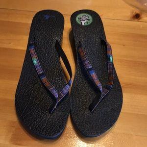 Sanuk Yoga Mat Wedge Sandals Brand New Size 11